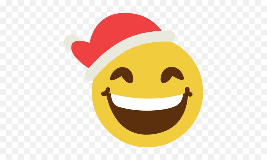 Smiling Santa Claus Hat Face Emoticon - Santa Claus Smiley Transparent Emoji,Santa Clause Emoticon