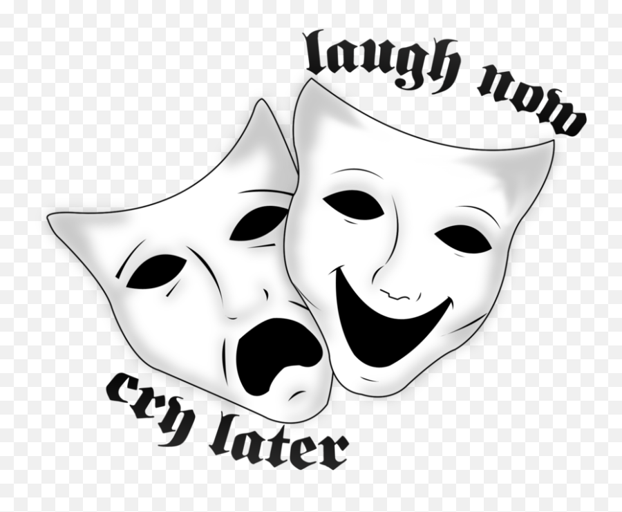 Laugh And Cry Png - Laugh Now Cry Later Symbol Clipart Laugh Now Cry Later Tattoo Simple Emoji,Laugh Cry Emoji Png