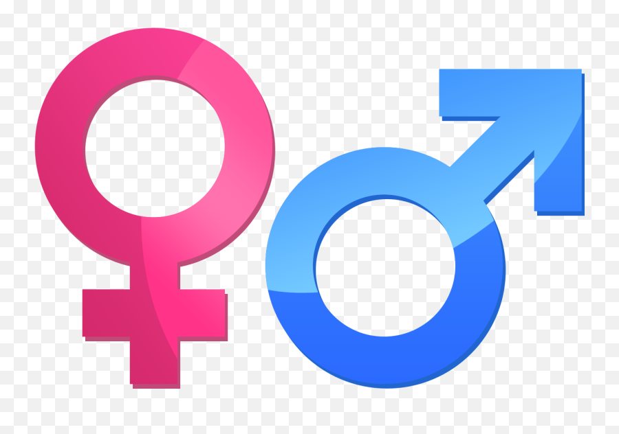 A Bisexual Symbol Consisting Of A Male Sign And Female Sign - Male Female Sign Png Emoji