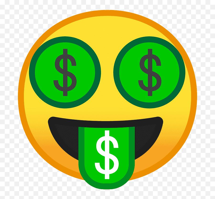 Money - Mouth Face Emoji Clipart Free Download Transparent Money Face Emoji Svg,Zany Emoji