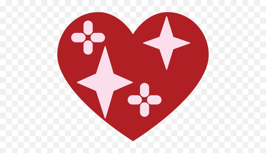 Sparkling Heart Emoji For Facebook Email Sms - Emblem,Sparkling Heart Emoji