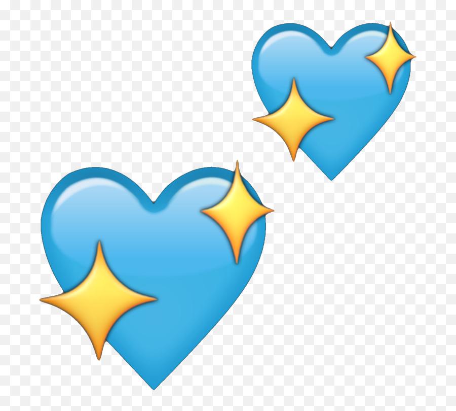 Heart Emoji Blue Sparkle Blueheart Heartemoji Sparkling - Blue Sparkling Heart Emoji,Sparkling Heart Emoji