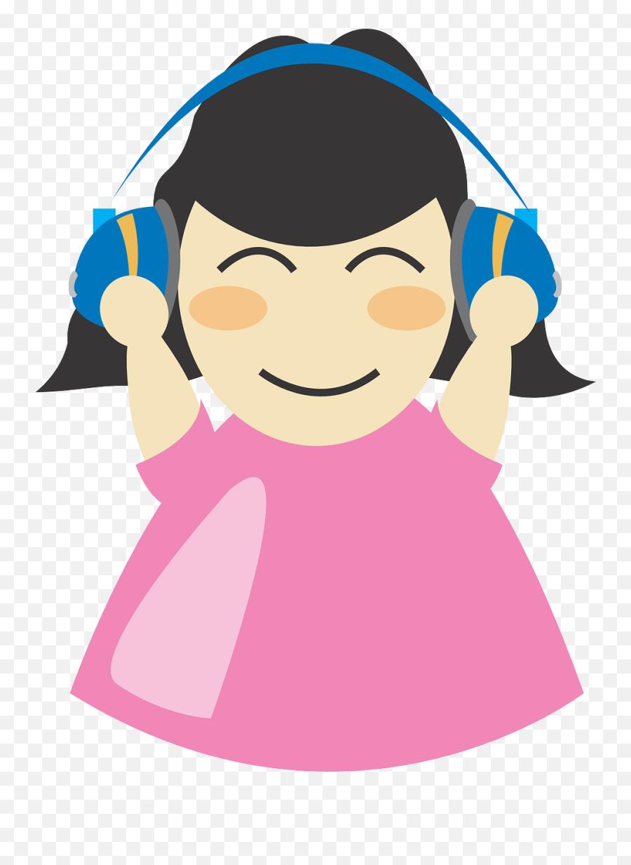Earphones Girl Headphone Listen Music - Listening To Headphones Clipart Emoji,Apple Animated Emojis