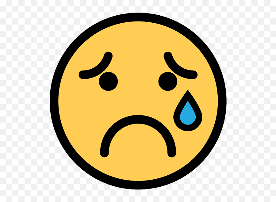 Smiley Face Sad Crying Face Spiral Notebook - Sad Crying Face Emoji,Crying Face Emoticon