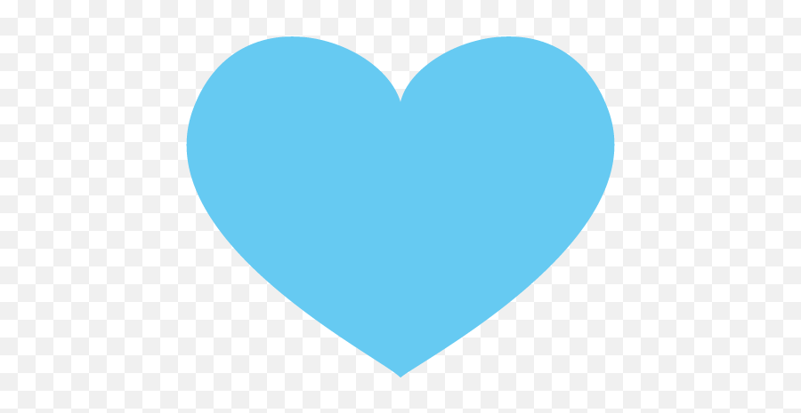 Blue Heart Emoji Icon Vector Symbol - Blue Heart Png