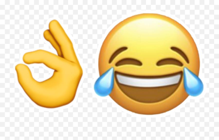 funny haha emoji ok okay lol Sticker by annapark94 - Smiley