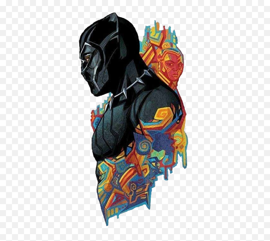 Wakanda Tchalla Tchalla Black Panther Blackpanther - Black Panther Art Work Emoji