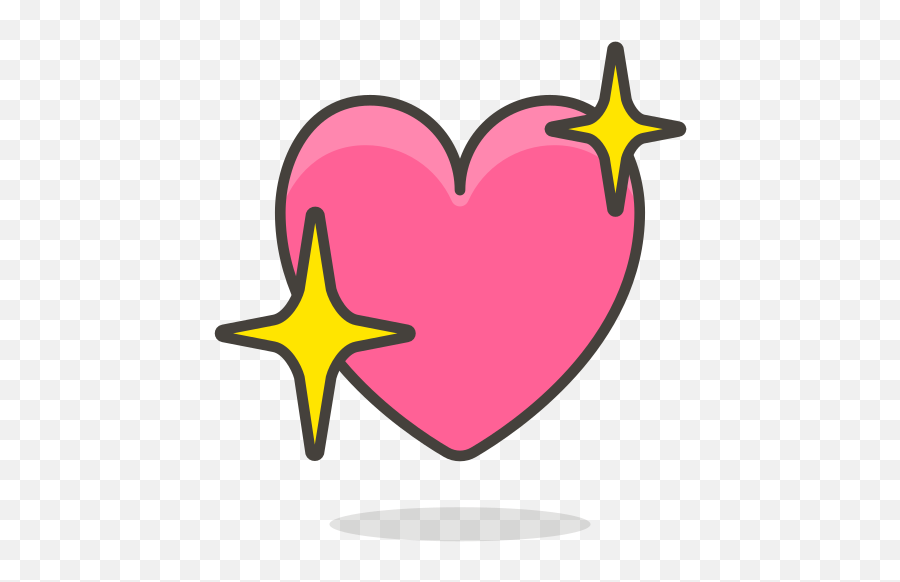 Sparkling Heart Free Icon Of 780 Free Vector Emoji - Sparkling Heart Png,Sparkling Heart Emoji